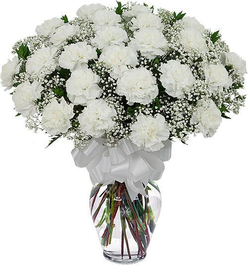 maltaflowers white carnation bouquet fresh flower delivery to malta